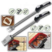 Kit pour barbecue Fourchette  + Pelle/Pince automatique