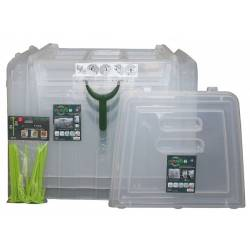 Kit 3 serres tunnel de culture rigide modul'o 60 + 2 embouts + 10 piquets